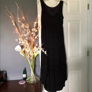 Torrid Hi-Low Black Dress with Crochet Detail-Sz 0